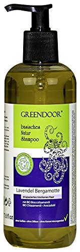 500ml GROSS-Packung Natur Shampoo Lavendel Bergamotte strapaziertes trockenes Haar, basische Haarpflege aus BIO Ölen ohne Sulfate Silikone all natural, natürlich outdoor geeignet biologisch abbaubar
