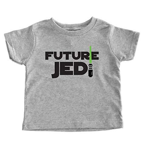 TeeNow - Star Wars Inspired Tees (Multiple Designs) - Funny Toddler/Kids T-Shirt - Boy/Girl (2T, Grey Future Jedi)