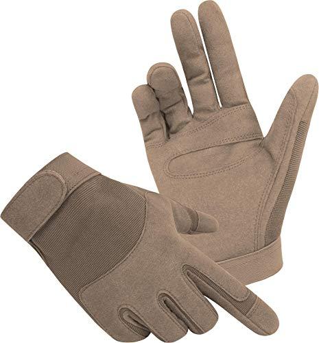 normani Tactical Army Gloves Herrenhandschuhe aus Spezialkunstleder Farbe Coyote Größe M