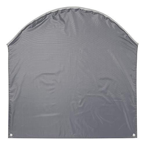 Wohnwagen Radabdeckung grau UV Schutz Polyestergewebe mit Anker Ösen für Wohnwagen und Wohnmobil (1)