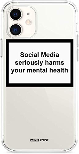YENIGHT HYPExSTORE® Social Media Seriously Harms Your MENTAL Health iPhone Cover CASE Tasche HÜLLE (iPhone 11)