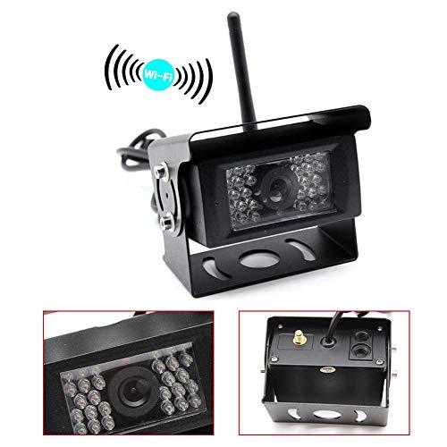 ZGYQGOO Digital WiFi Rückfahrkamera 12V-24V Wireless 28 IRs 120 ° Weitsicht für Trailer, Wohnmobil, Bus, LKW, Pferdeanhänger, Schulbus, Landwirtschaftsmaschine für Android/iOS