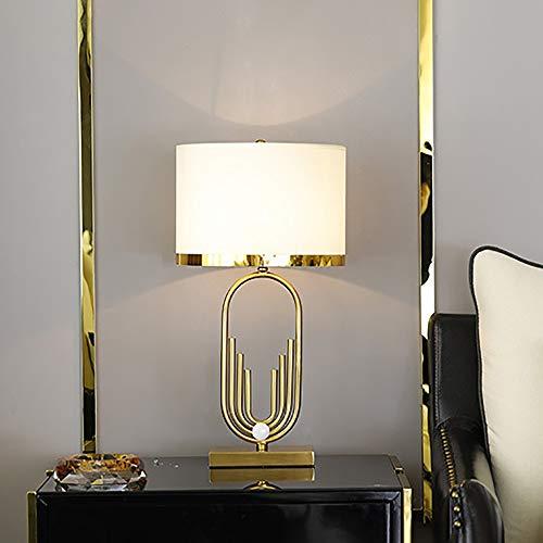 DKEE Ambiente De Moda Lámpara De Mesa De Lujo Posmoderna Salón Mesita De Noche Habitación Sencilla Creativa Iluminación Decorativa 38 * 68cm Lámpara de Mesa