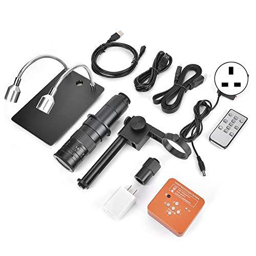 Industrie-Mikroskop, 60 FPS, 2 K, 34 MP, 1080P, USB, industrielles elektronisches Digitalvideo-Mikroskop-Kamera für die Reparatur von Handys, CPU, 100-240 V (UK-Stecker)
