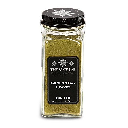 The Spice Lab No. 118 - Ground Bay Leaves - Kosher Gluten-Free Non-GMO All Natural Spice - French Jar