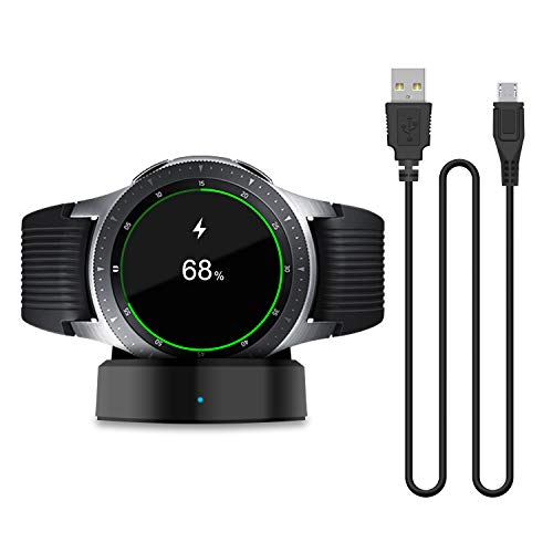 Cargador actualizado compatible con Samsung Galaxy Smart Watch 42 mm 46 mm, base de carga de repuesto solo para Samsung Galaxy Smart Watch SM-R800 SM-R810 SM-R815 (no para reloj activo).