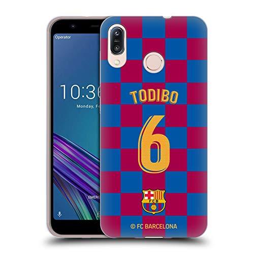 Officiële FC Barcelona Jean-Chair Todibo 2019/20 Spelers Home Kit Groep 2 Soft Gel Case Compatibel voor Asus Zenfone Max (M1) ZB555KL