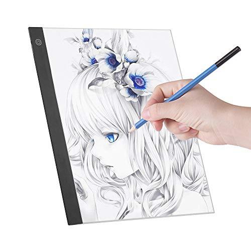 WYSTLDR LED A3 Light Panel Grafik-Lichtpad Digitales Copyboard mit 3-stufiger dimmbarer Helligkeit zum Verfolgen von Zeichnungen Kopieren des Lichtpads a3