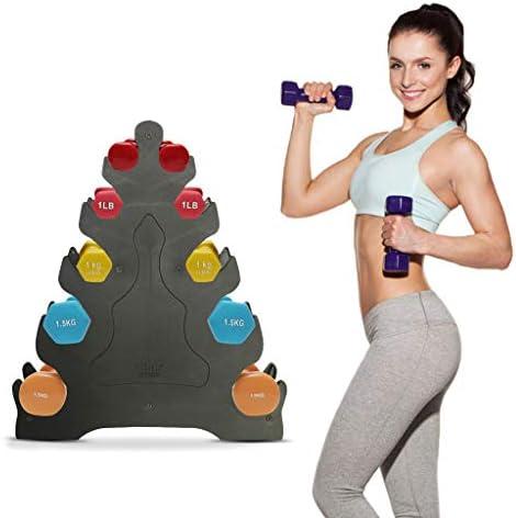 Hantel Rack Halter,Kurzhantel Rack-Gewicht Rack-Gym Arm3-Schicht Hantel Baum-Rack-Home Fitness Equipment QBY Hantelst/änder Kurzhanteln Hantel-Anzeigen-Speicher