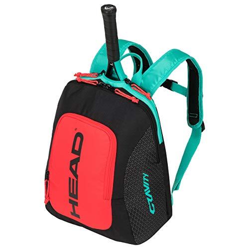 HEAD Unisex Jugend Kids Backpack Gravity Tennistasche, Black/Teal, Einheitsgröße