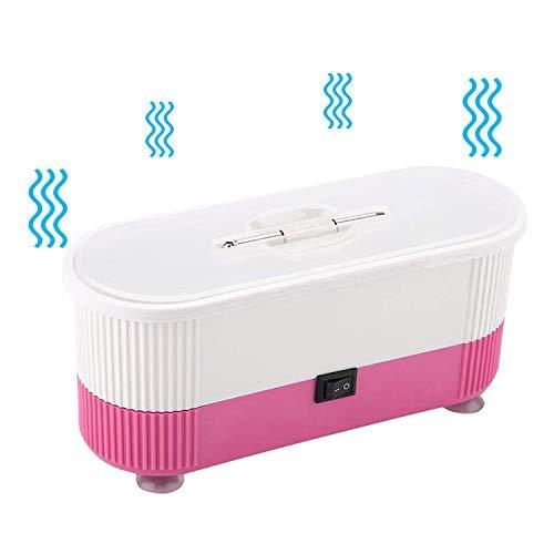 Ultraschallreiniger, Mini-Ultraschall Reinigungsmaschine, Brillen Reinigungsgerät, für Brillen Schmuck Wasserdicht Uhren Zahnprothesen Ultrasonic Cleaner (Rosa)