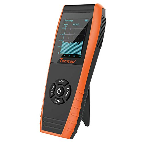 Temtop LKC-1000S+ Professional Formaldehyde Monitor Detector with HCHO/PM2.5/PM10/TVOC Accurate Testing Air Quality Detector