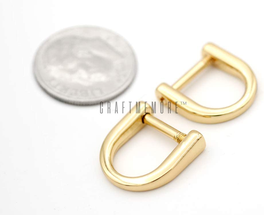 20mm 4pcs 34 Screw d ring d ring buckle purse ring strap ring screw connector ring purse hardware