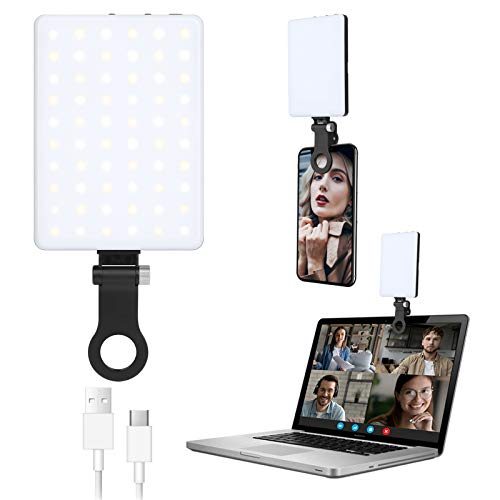 Video conference lighting clip-on laptop, lighting with clip for iPad and laptop, desk lamp video light for video conferencing, zoom calls, remote work, video calls, study, live streaming