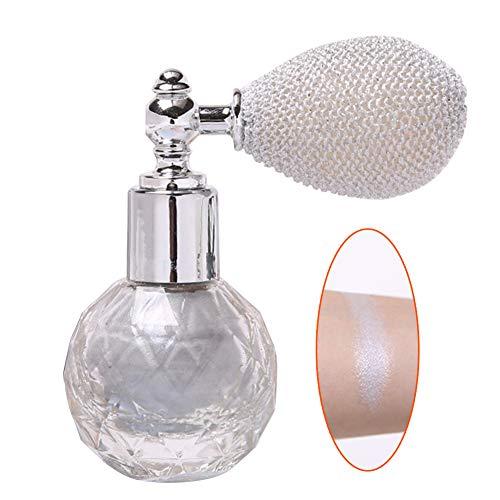 Godya Evidenziatore per Il Corpo Glitter in Polvere Spray Trucco Polvere Scintillante Ad Alta Luce Fantasia Duratura Shimmer Cosmetico per Viso, Corpo, Labbra,...
