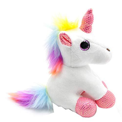 Llavero Colgante Colorido del Unicornio De Peluche De Juguete De Peluche Mochila Animales De...