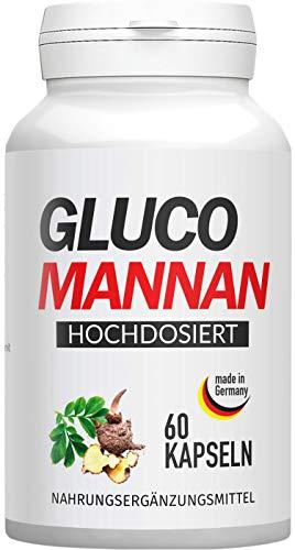 Glucomannan | Abnehmen ohne Hungern! Das beste Naturprodukt für Ihr Wohlfühlgewicht | 60 Kapseln, hergestellt in Deutschland (1)