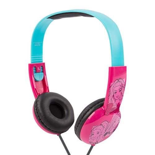 Barbie Kids Safe Over The Ear Headphones HP2-03059 | Kids Headphones, Volume Limiter for Developing Ears, 3.5MM Stereo Jack, Recommended for Ages 3-9, by Sakar