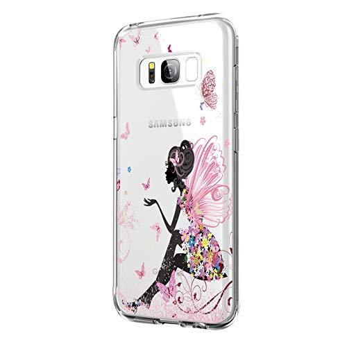 JEPER Kompatibel für Galaxy S8 Hülle, Crystal Clear Ultra Dünn Flexibel Silikon Case Premium Transparent TPU Weiche Schutzhülle Bumper Handyhülle Slimcase Tasche für Galaxy S8 Cover (S8, 01)