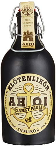 AHOI Klötenlikör Sankt Pauli / Eierlikör direkt vom Hamburger Kiez mit 24 % - 500ml