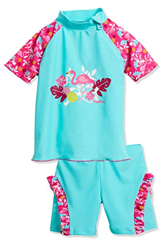 Playshoes Baby-Mädchen Uv-schutz Bade-set Flamingo Badebekleidungsset, Türkis (Türkis 15), 134/140