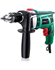 Hammer Drill, POSENPRO 710W 13MM 0-2700RPM Impact Drill with Aluminum Machine Shell, Hammer and Drill 2 Mode in, Variable Speed, 360° Rotating Handle for Drilling Brick, Wood, Steel, Masonry