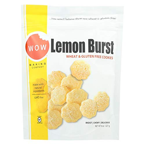 Wow Baking Company Lemon Burst Cookies, 8 Ounce Bag - 12 per case.