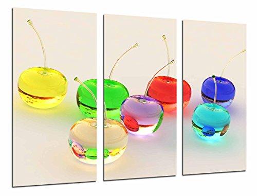 Cuadro Fotográfico Frutas de colores, Cerezas, Cristal Tamaño total: 97 x 62...