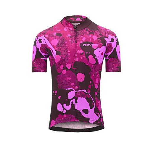 Uglyfrog Kurzarm Radtrikot Fahrradtrikot Herren T-Shirt Jersey Radsport Funktionsshirt Elastische Atmungsaktive Schnell Trocknen Stoff