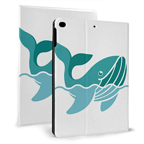 Vintage Ipad Cover Clever Lively Funny Ocean Blue Whale Magnetic Ipad Cover For Ipad Mini 4/mini 5/2018 6th/2017 5th/air/air 2 With Auto Wake/sleep Magnetic Magnetic Ipad Cover