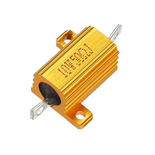 Sourcingmap Aluminium Fall Widerstand 10W 50Ohm Wirewound für LED Konverter mit Stab Post 10W50rj