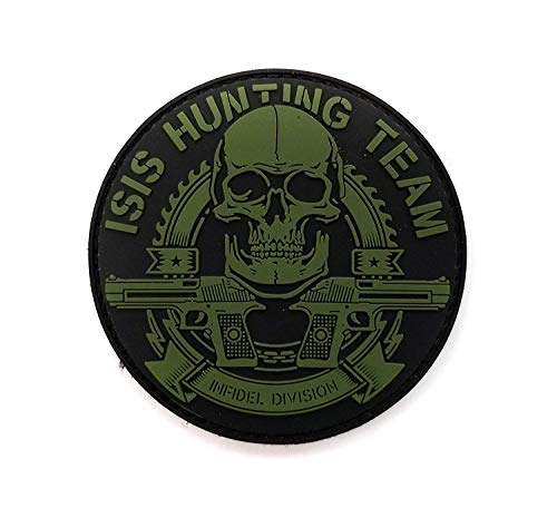 Tactical Innovations Canada PVC Morale Patch – ISIS Hunting Team 7,6 cm Durchmesser – Schwarz & ODG