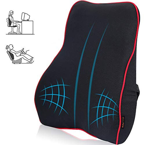 Back Cushion – Lumbar Support Pillow – Orthopedic Back Rest – Back Support Pillow for Office Chair Car and Wheelchair – Versatile Lumbar Support Cushion – Breathable, Memory Foam Orthopedic Pillow