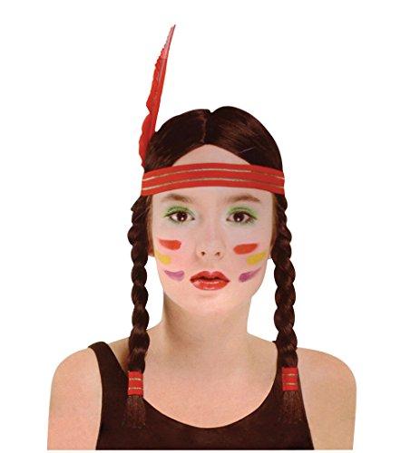 Femmes Squaw Indienne Accessoire Perruque pour Far West Cowboys Amérindien Perruque Déguisement