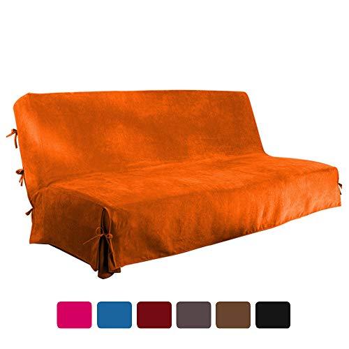 Funda para sofá sin Brazos de Funda para sofá Clic Clac Funda para sofá Cama (Naranja)
