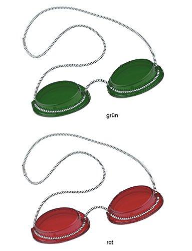Solarium Schutzbrille UV Brille Solariumbrille mit Gummizug 1 X grün + 1 X rot - By Beauty & Legwear Store