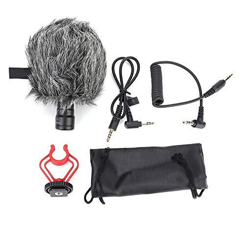 Alomejor1 Draagbare Microfoon Condenser Microfoon Interview Microfoon Video Microfoon met Voorruit voor Camera Camcorder