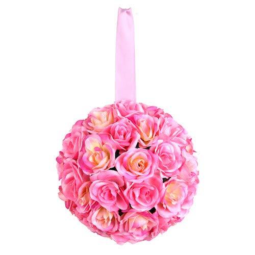 Euro Flora Künstliche Rosenkugel 10 cm (rosa)