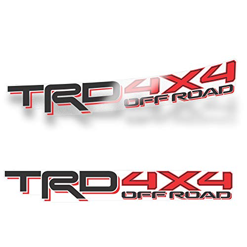 GOLD HOOK TRD 4x4 Off Road Decal Compatible with Toyota Tacoma Tundra (Set of 2)