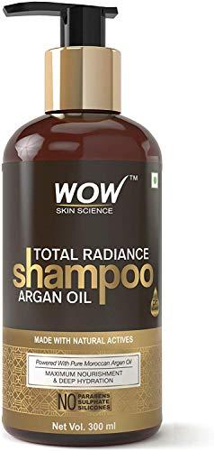 Glamorous Hub WOW Total Radiance Champú de silicona y sulfato sin parabenos, 300 ml (el empaque puede variar)