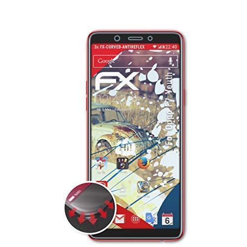 atFolix Schutzfolie kompatibel mit Oppo F7 Youth Folie, entspiegelnde & Flexible FX Bildschirmschutzfolie (3er Set)