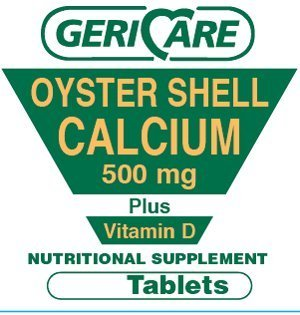 100 Oyster Shell Calcium 500mg Plus D compares to Oscal D -  GeriCare, 357896742010