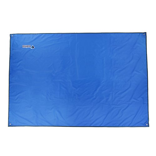 Outad Camping-Schutzdecke / Bodenplane für Zelt und Matratze, für Outdoor-Aktivitäten, winddicht, feuchtigkeitsfest, mit Sonnenschutz, blau