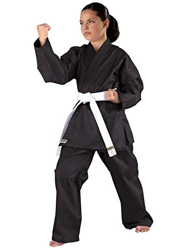 Kwon Karateanzug Shadow, schwarz, 551101, Gr.180