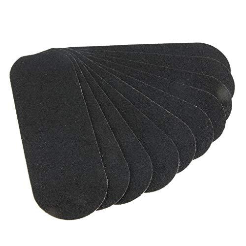 B Baosity 10pcs Disques papier de verre Grattoir à pieds Décapants Pied dur peau - Noir 1