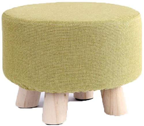 JINYUNDA Sofá taburete para el hogar, de algodón y lino. Pequeños taburetes sencillos, creativos, para el salón