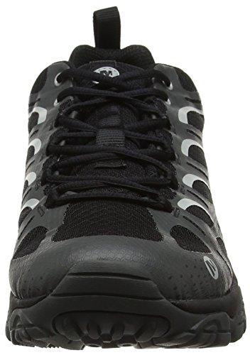 Merrell Men's Moab Edge Waterproof Hiking Shoe, Black, 10.5 M US