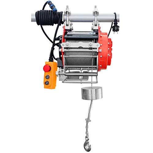 CROSSFER Elektrische Seilwinde Seilhebezug HXS-800YT / 800 Kg Tragkraft / 32 Meter extra langes Stahlseil/Fernbedienung mit 5 Meter Bedienkabel/Automatische Bremse und Endabschaltung