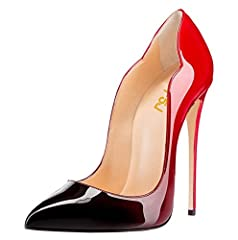 """DAINTY HEIGHT: High-heel measures approx. 12 cm/4.75"""" (varied slightly by size), the best height to show your perfect figure with leg lengthening magic. VERSATILE STYLE: These stylish pumps are characterized by pointy toe, high heels and curve toplin..."""