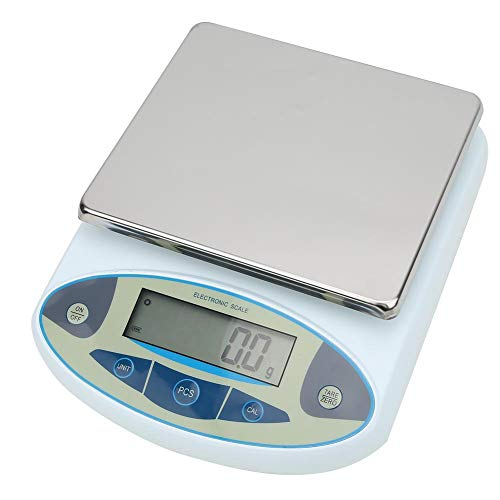 Balanza electrónica analítica de laboratorio balanza de laboratorio de 20 kg 0,1 g, balanza de laboratorio de alta precisión balanza electrónica analítica digital(EU)